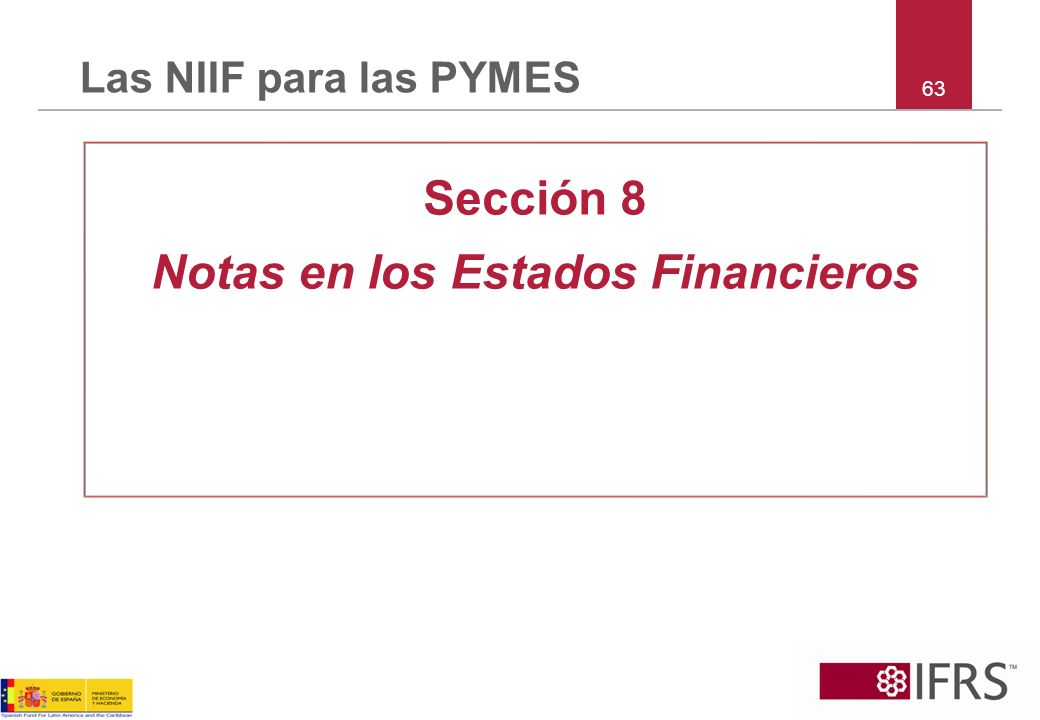 Notas en los Estados Financieros