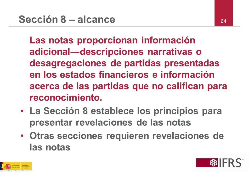 Sección 8 – alcance 64.