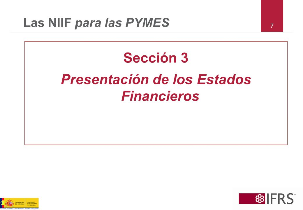 Presentación de los Estados Financieros