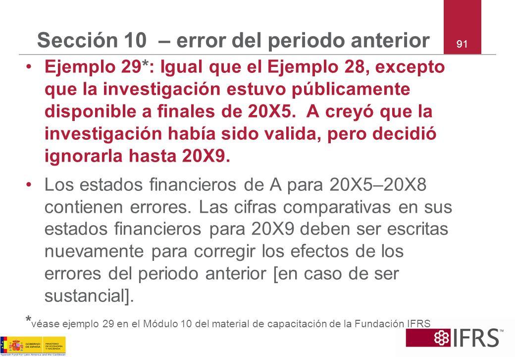 Sección 10 – error del periodo anterior