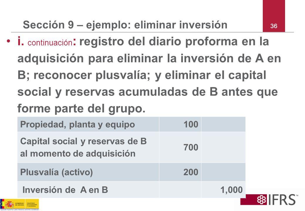 Sección 9 – ejemplo: eliminar inversión