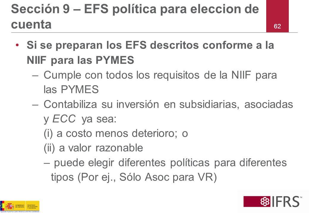 Sección 9 – EFS política para eleccion de cuenta