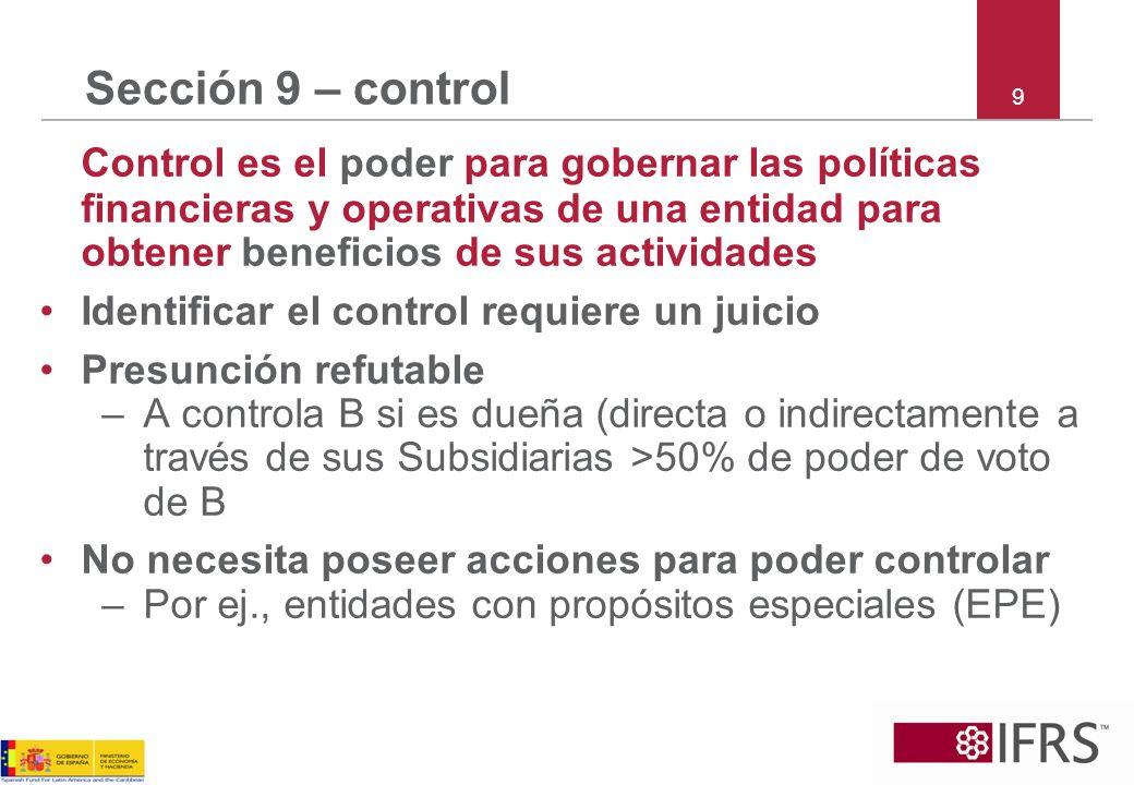 Sección 9 – control 9.