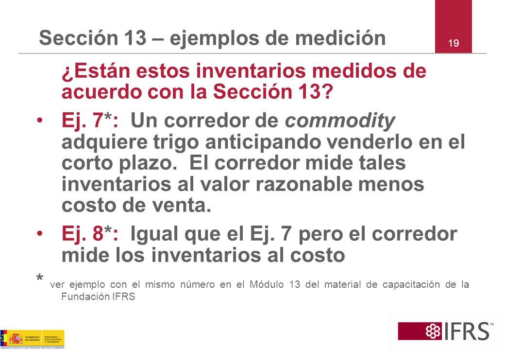 Sección 13 – ejemplos de medición