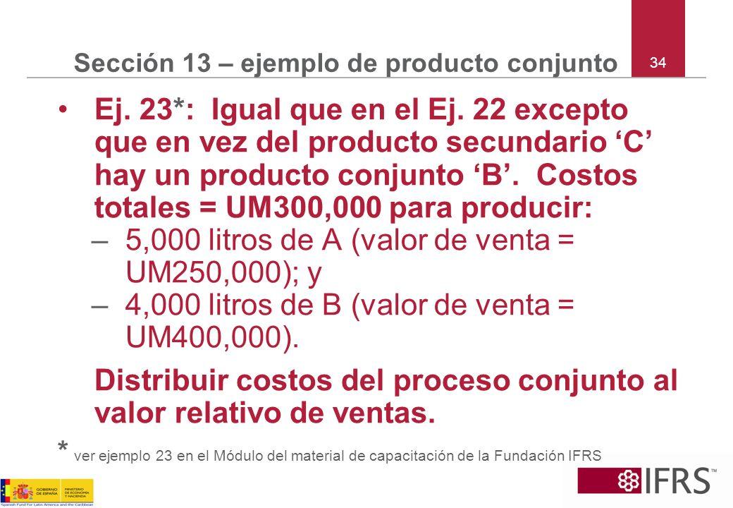 Sección 13 – ejemplo de producto conjunto