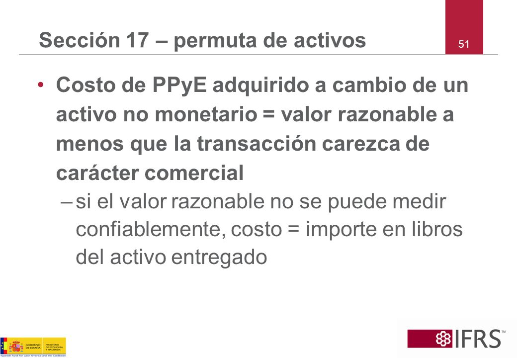 Sección 17 – permuta de activos