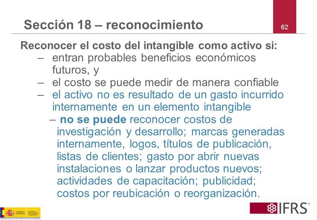 Sección 18 – reconocimiento