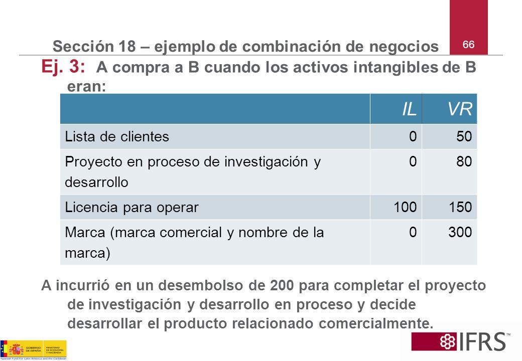 Sección 18 – ejemplo de combinación de negocios