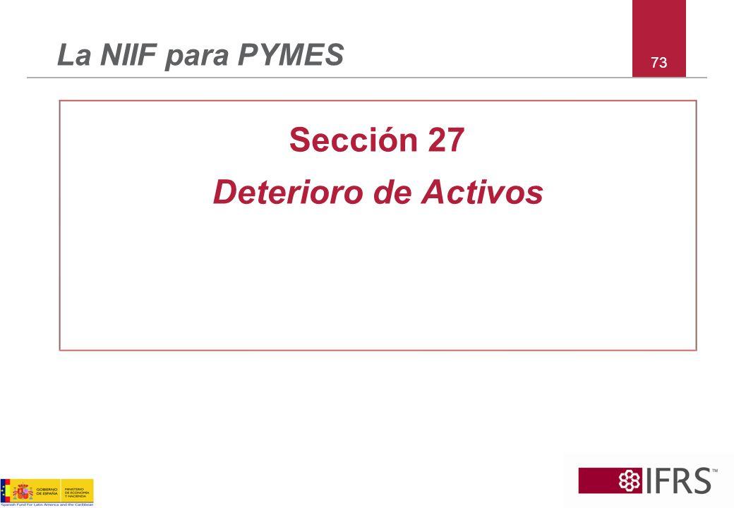 Sección 27 Deterioro de Activos