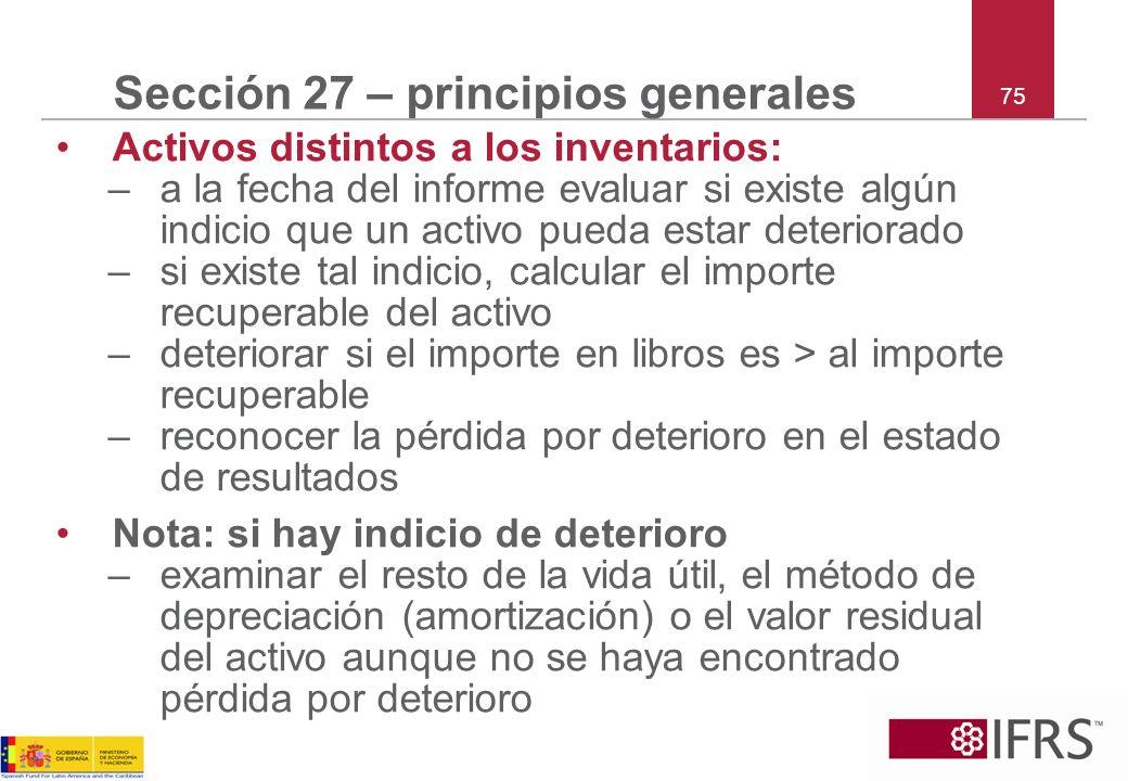 Sección 27 – principios generales