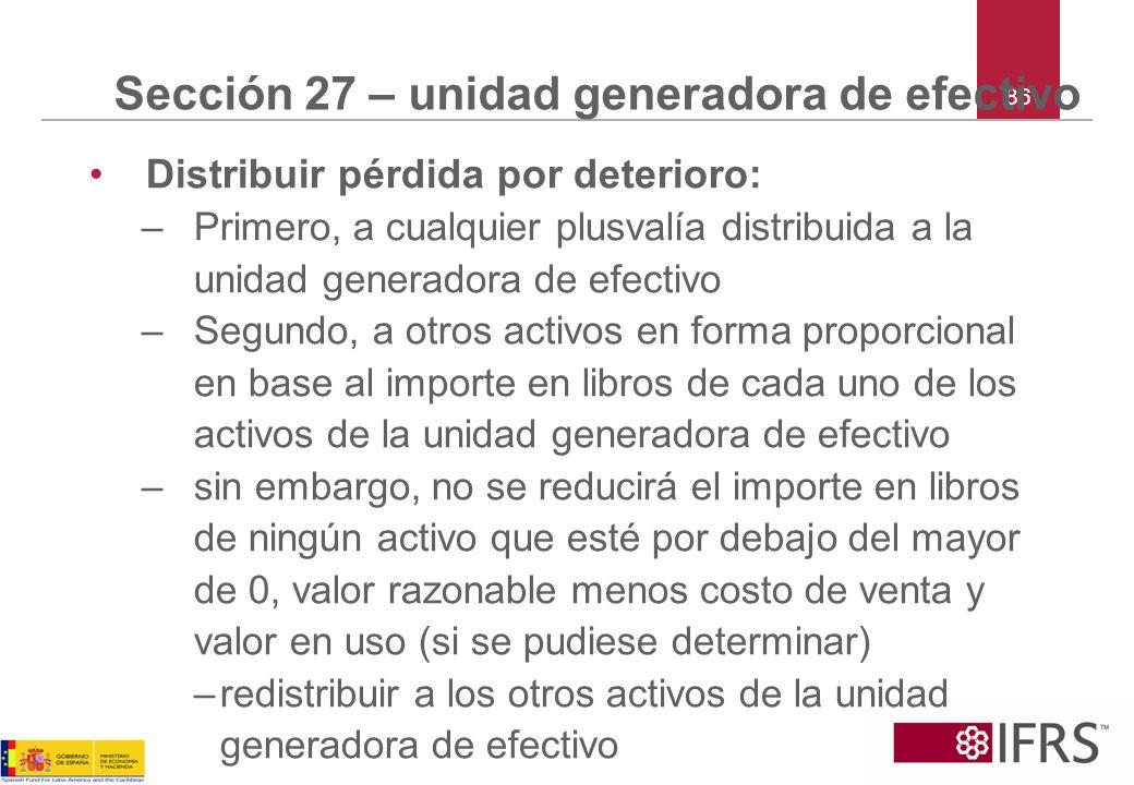Sección 27 – unidad generadora de efectivo