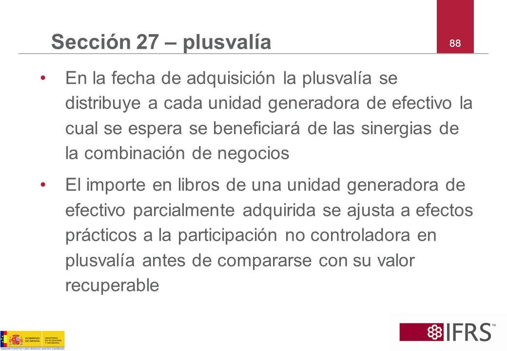 Sección 27 – plusvalía 88.