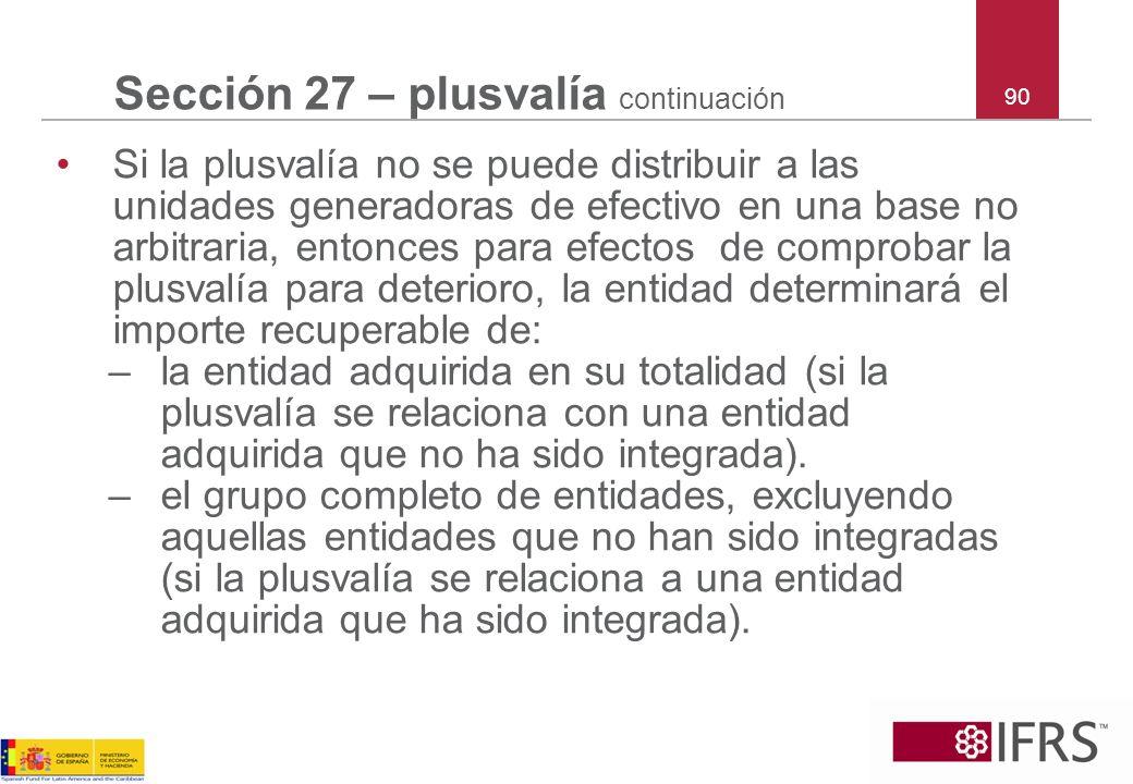 Sección 27 – plusvalía continuación
