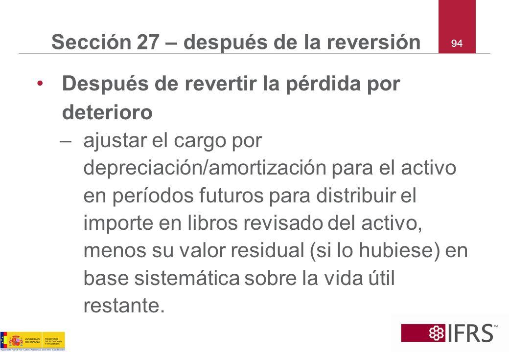 Sección 27 – después de la reversión