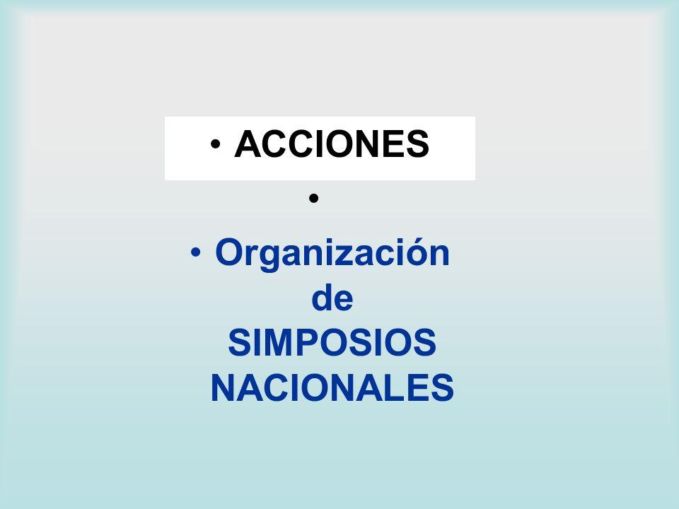 Organización de SIMPOSIOS NACIONALES