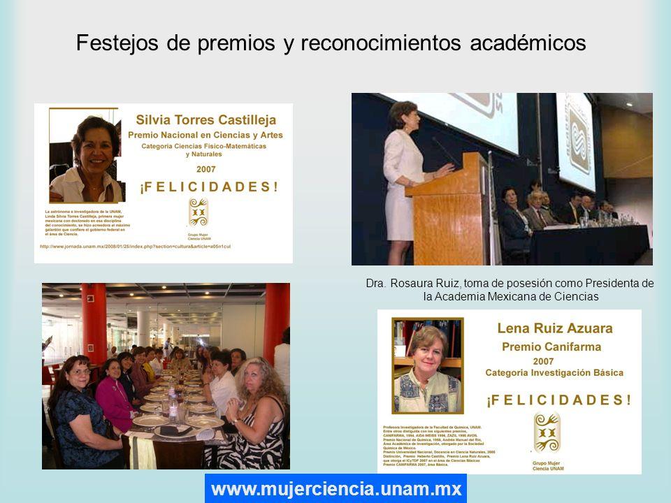 Festejos de premios y reconocimientos académicos