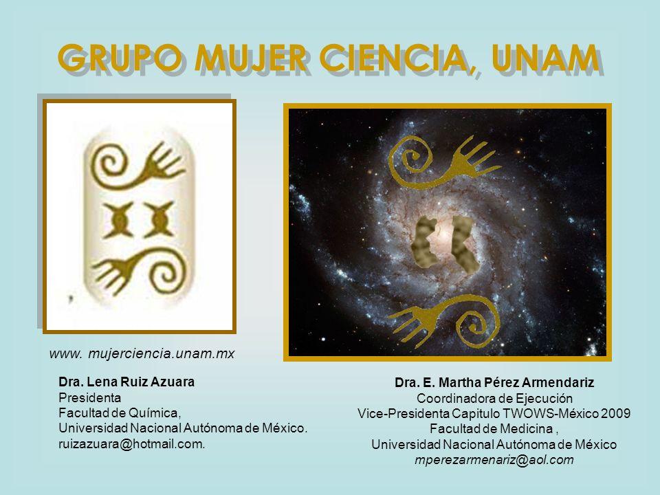 GRUPO MUJER CIENCIA, UNAM Dra. E. Martha Pérez Armendariz