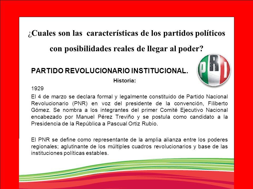 PARTIDO REVOLUCIONARIO INSTITUCIONAL.
