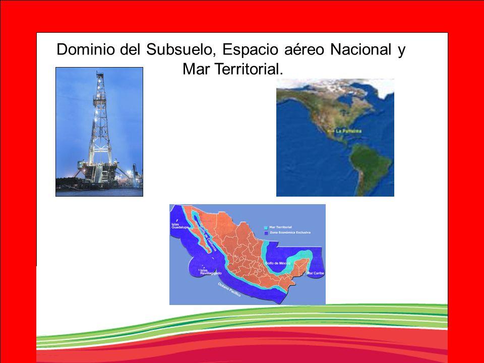 Dominio del Subsuelo, Espacio aéreo Nacional y