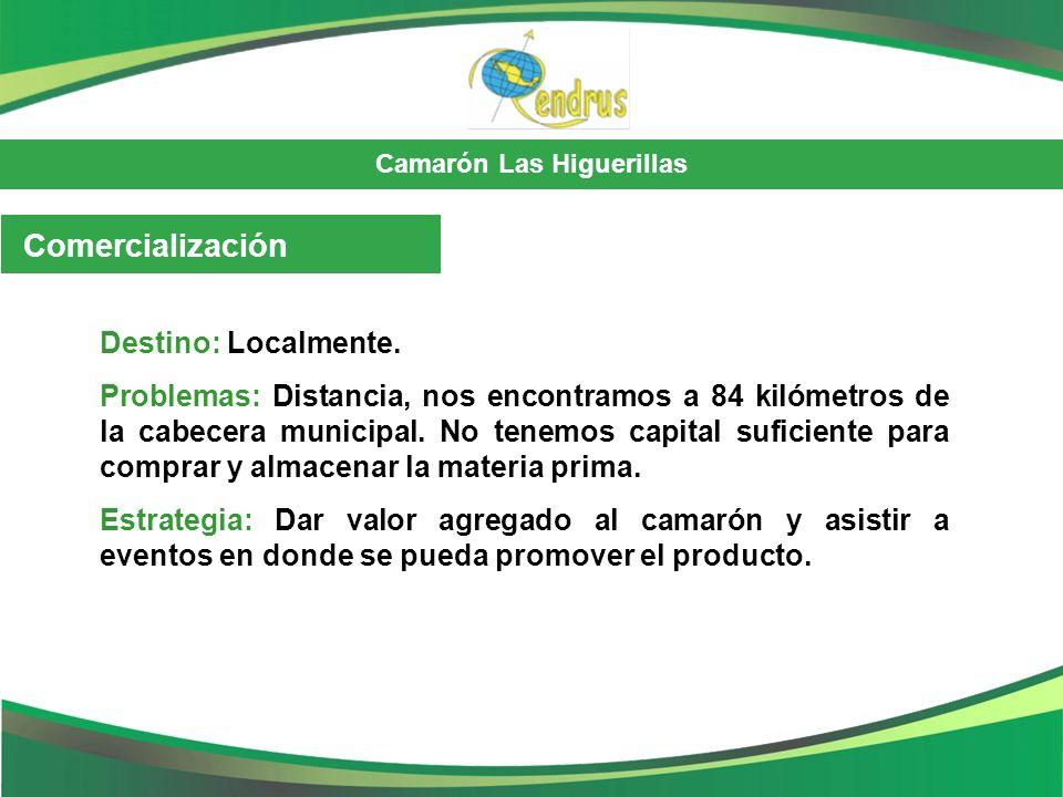 Comercialización Destino: Localmente.