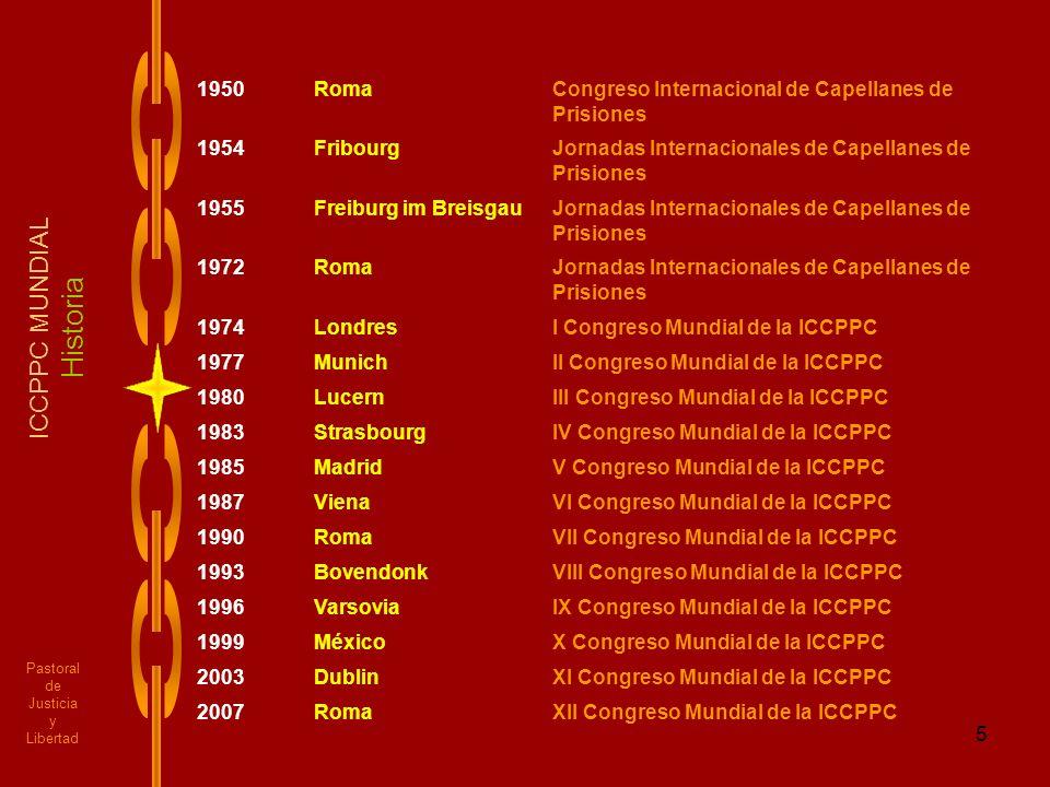 Historia ICCPPC MUNDIAL 1950 Roma