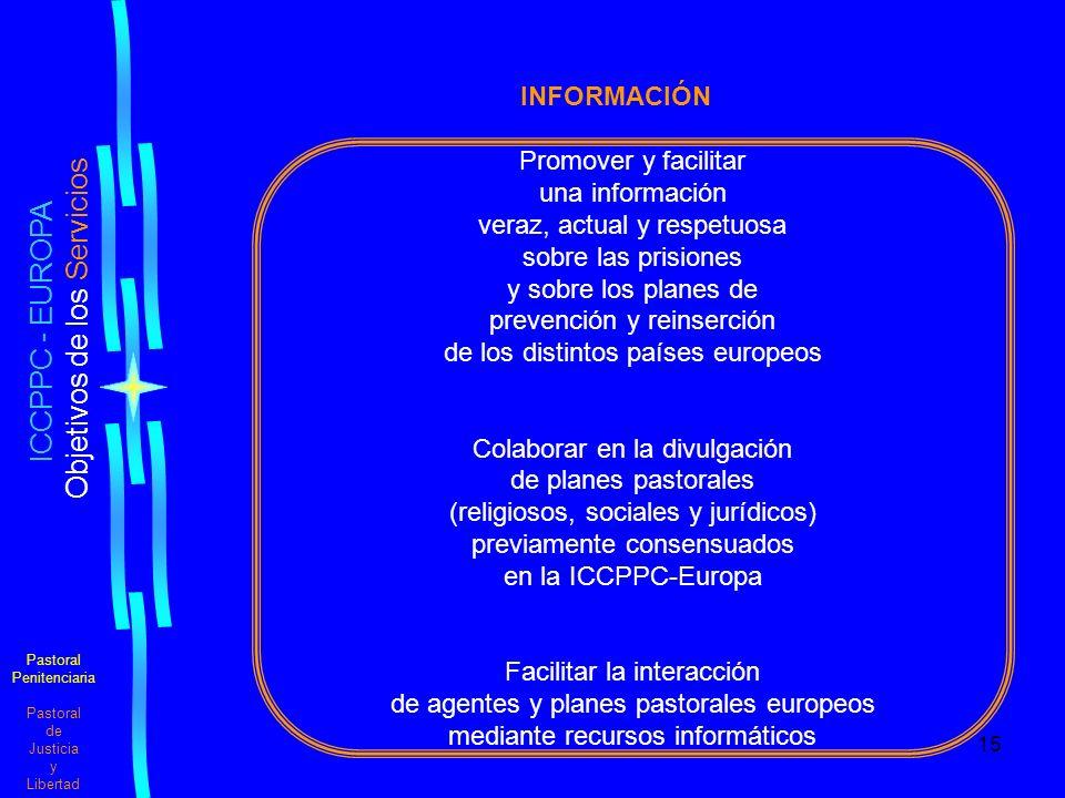 ICCPPC - EUROPA INFORMACIÓN Promover y facilitar una información