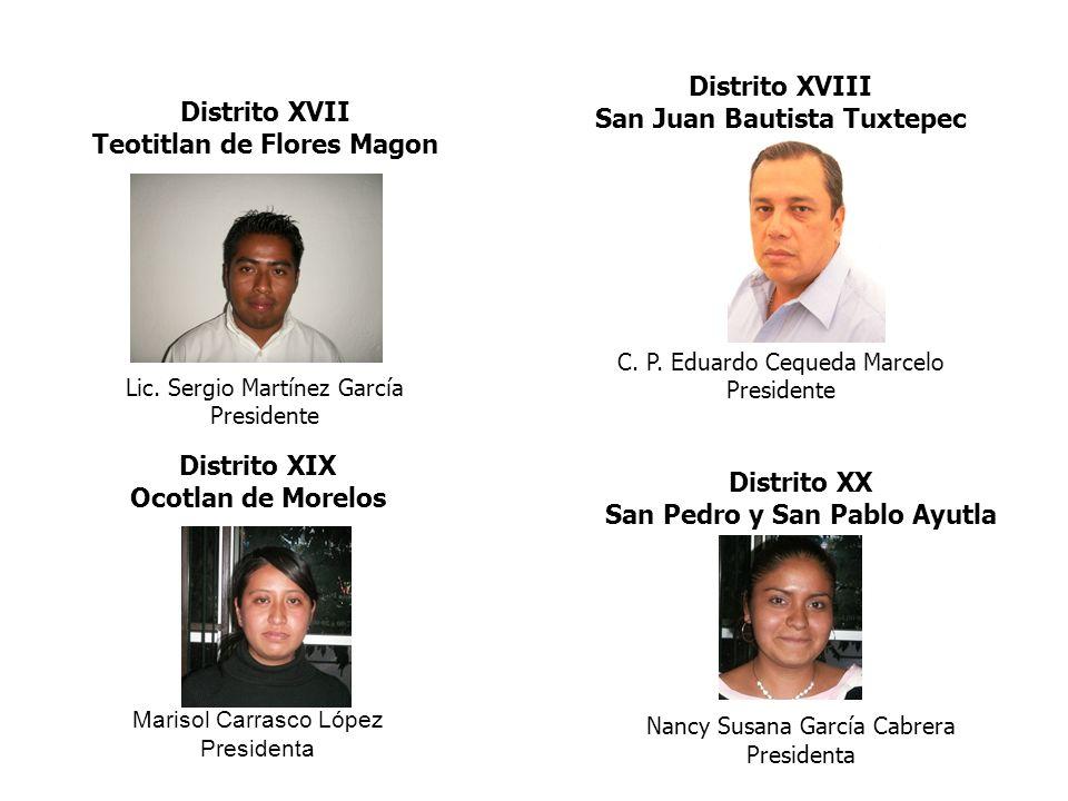 San Juan Bautista Tuxtepec Distrito XVII Teotitlan de Flores Magon