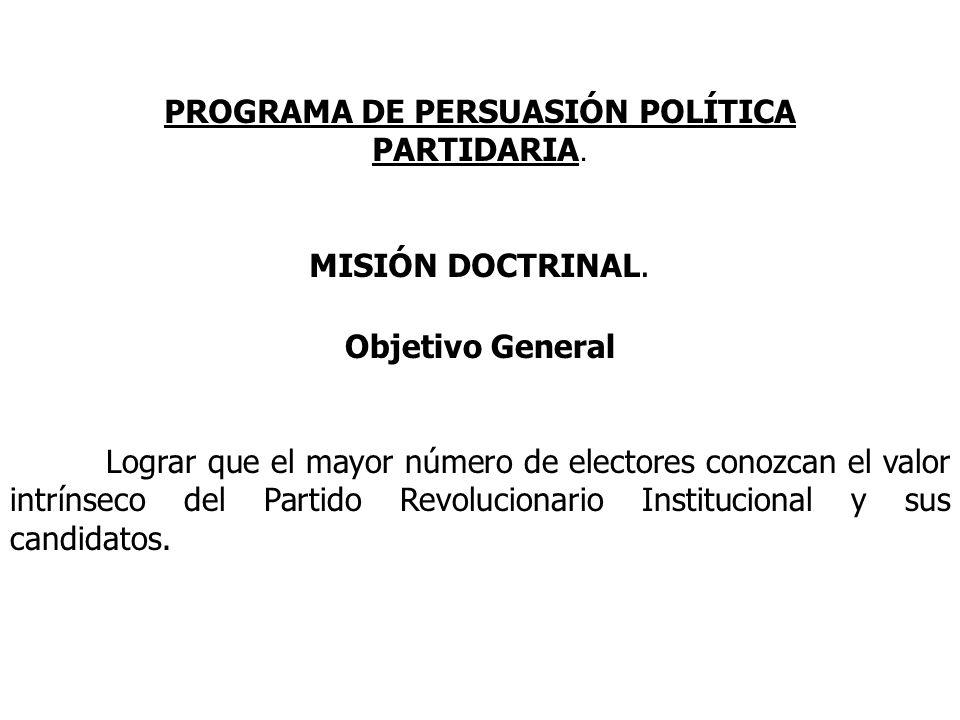PROGRAMA DE PERSUASIÓN POLÍTICA PARTIDARIA.