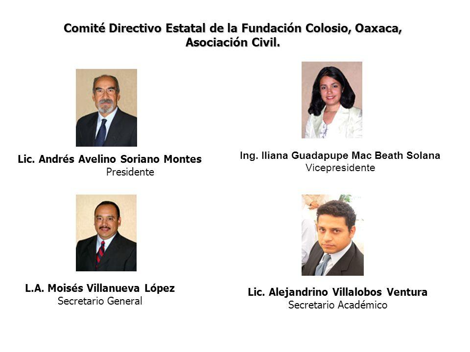 Comité Directivo Estatal de la Fundación Colosio, Oaxaca,