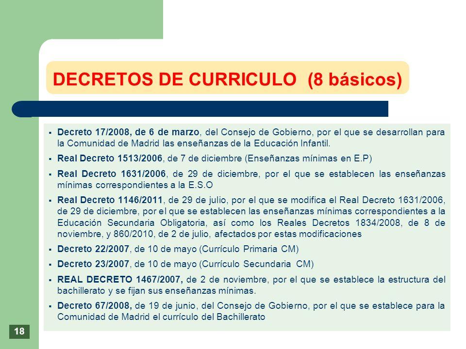 DECRETOS DE CURRICULO (8 básicos)