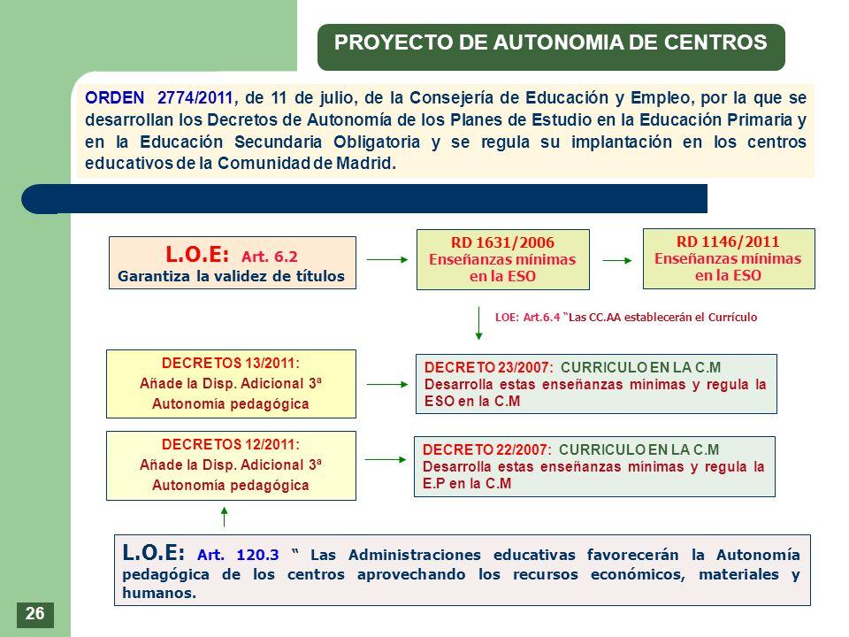 PROYECTO DE AUTONOMIA DE CENTROS