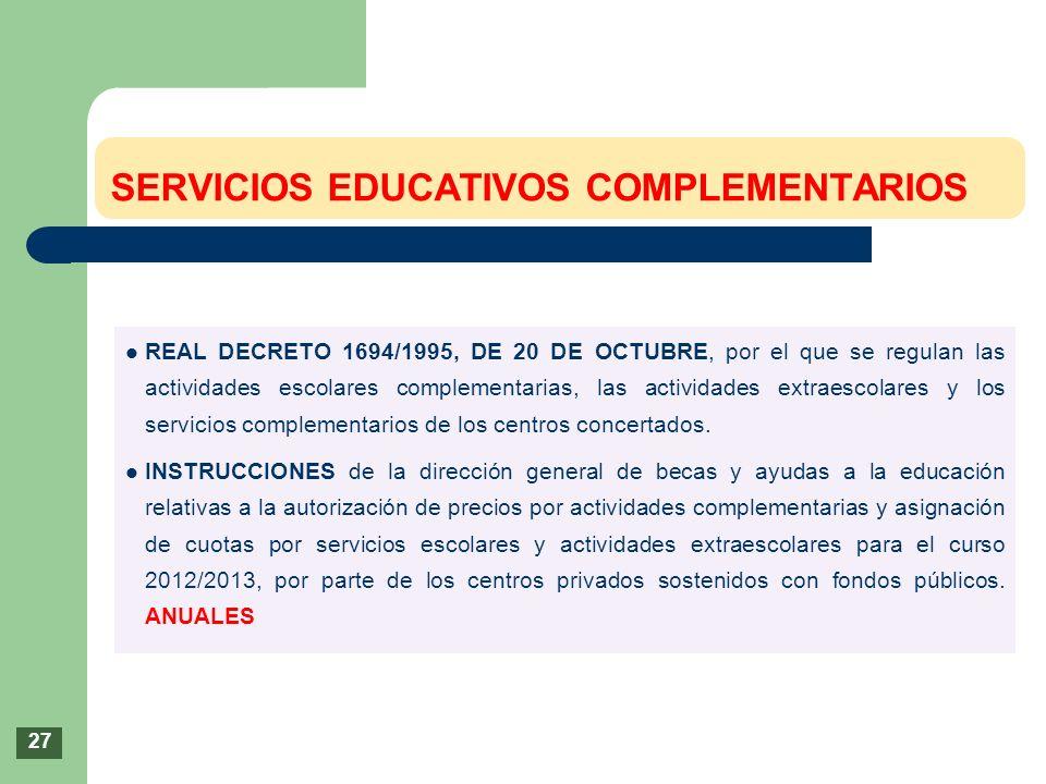 SERVICIOS EDUCATIVOS COMPLEMENTARIOS