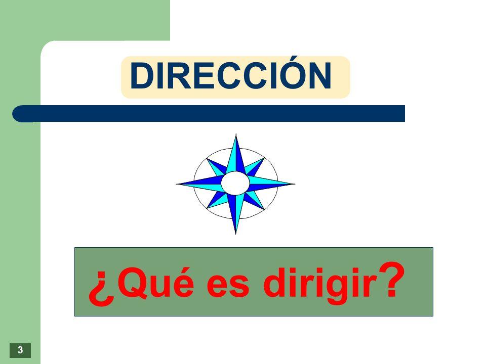 ¿Qué es dirigir DIRECCIÓN 3