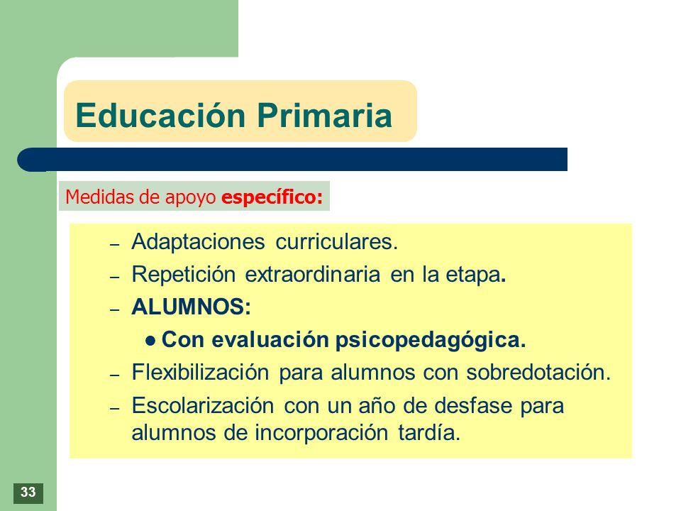 Educación Primaria Adaptaciones curriculares.