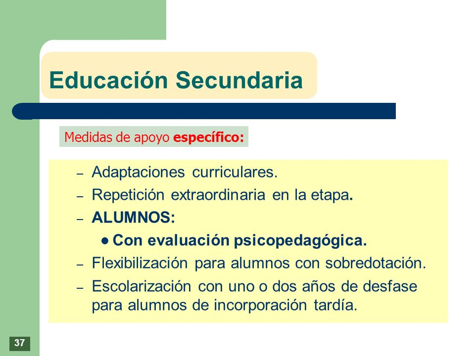 Educación Secundaria Adaptaciones curriculares.