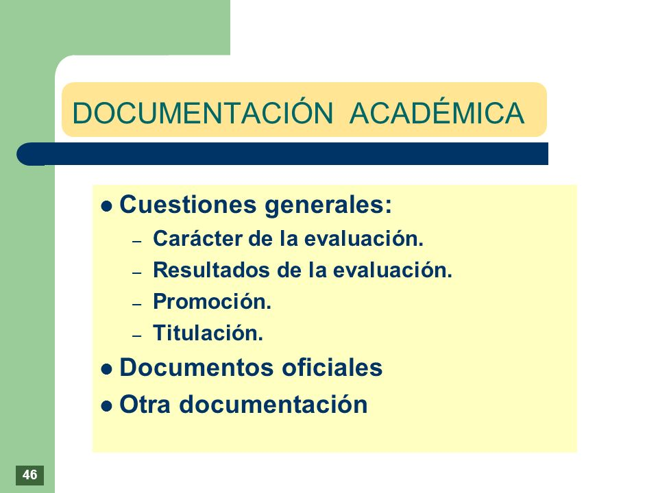 DOCUMENTACIÓN ACADÉMICA