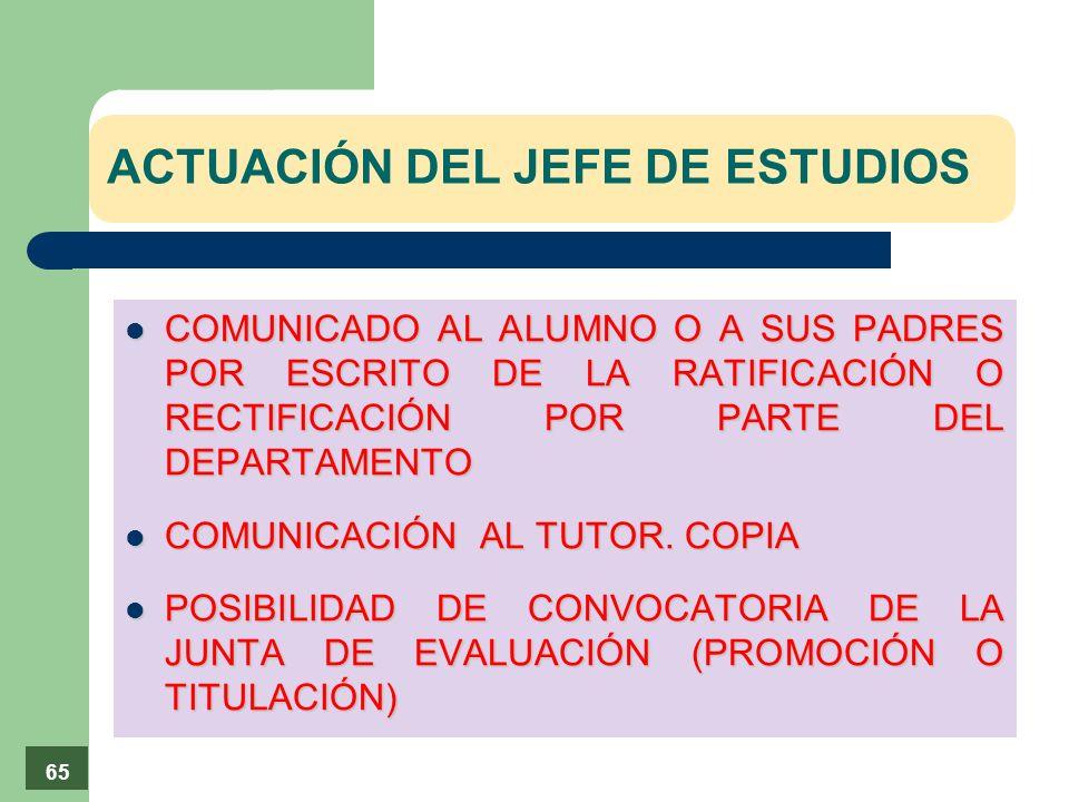 ACTUACIÓN DEL JEFE DE ESTUDIOS
