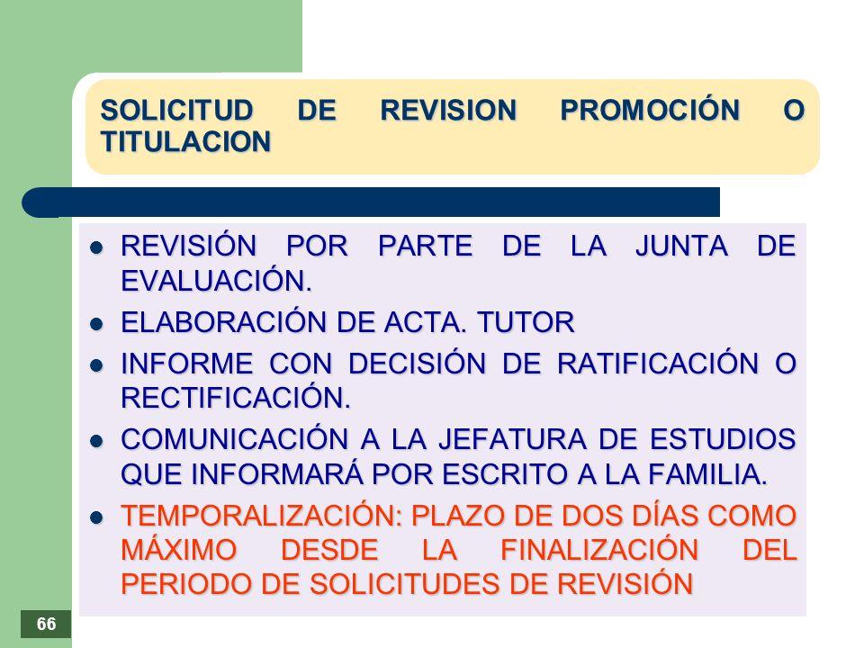 SOLICITUD DE REVISION PROMOCIÓN O TITULACION