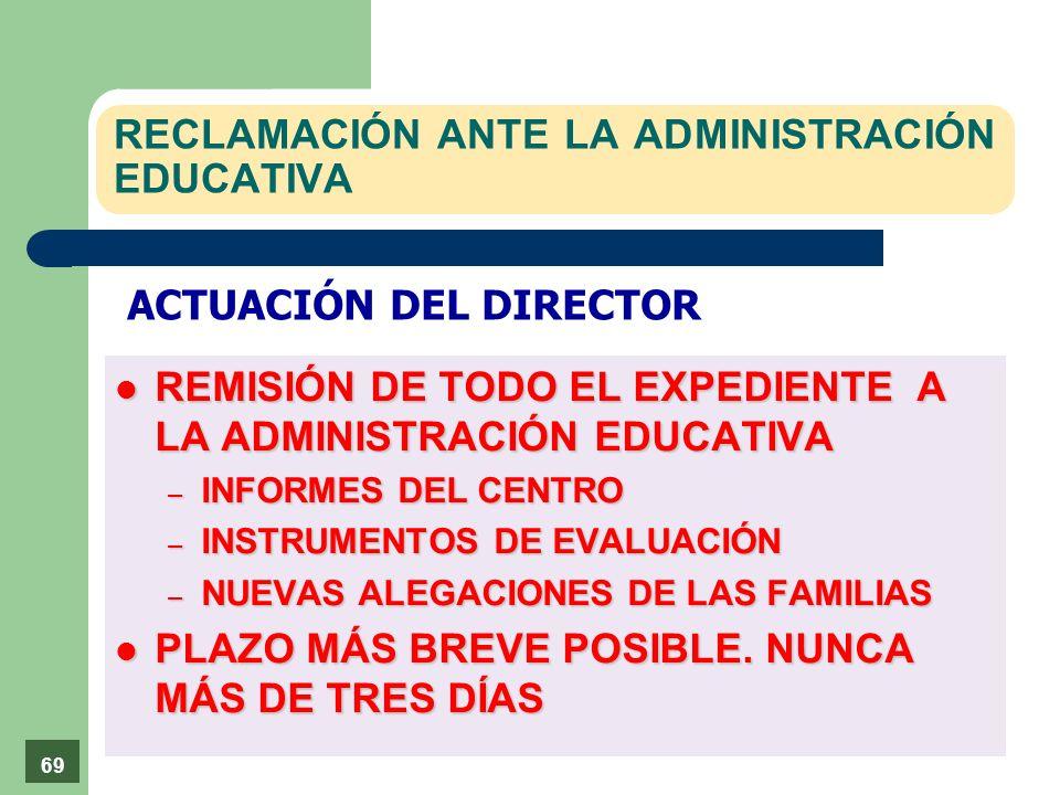 RECLAMACIÓN ANTE LA ADMINISTRACIÓN EDUCATIVA