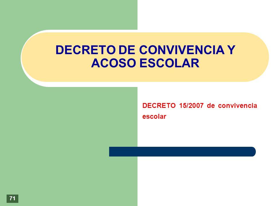DECRETO DE CONVIVENCIA Y ACOSO ESCOLAR