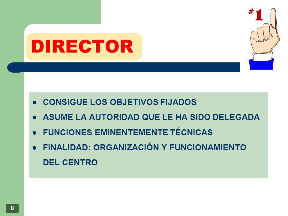 DIRECTOR CONSIGUE LOS OBJETIVOS FIJADOS