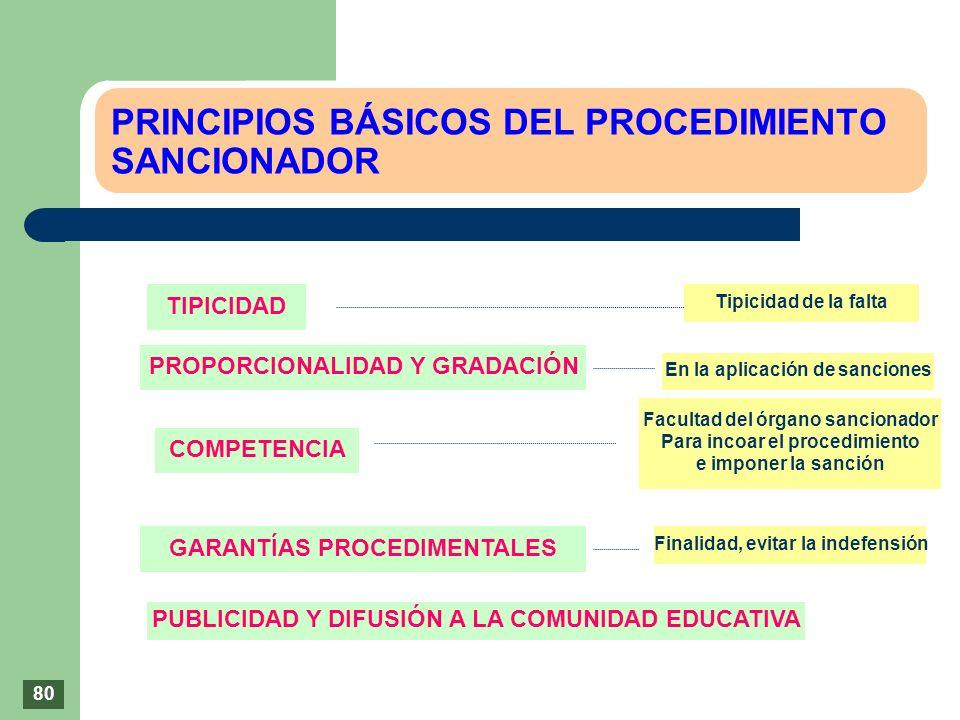 PRINCIPIOS BÁSICOS DEL PROCEDIMIENTO SANCIONADOR