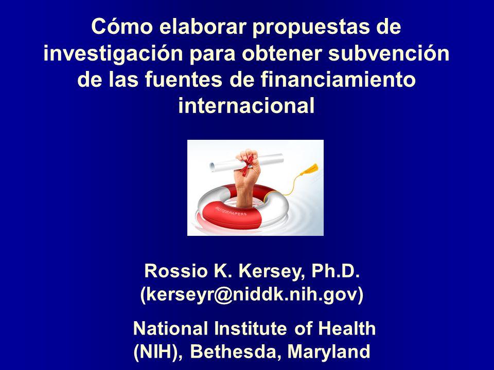 Cómo elaborar propuestas de investigación para obtener subvención de las fuentes de financiamiento internacional