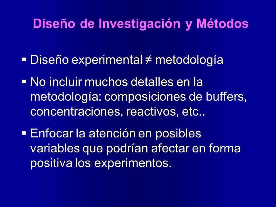 Diseño de Investigación y Métodos