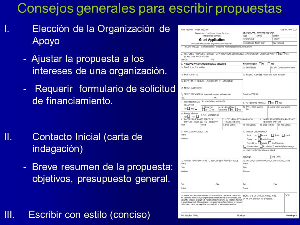 Consejos generales para escribir propuestas