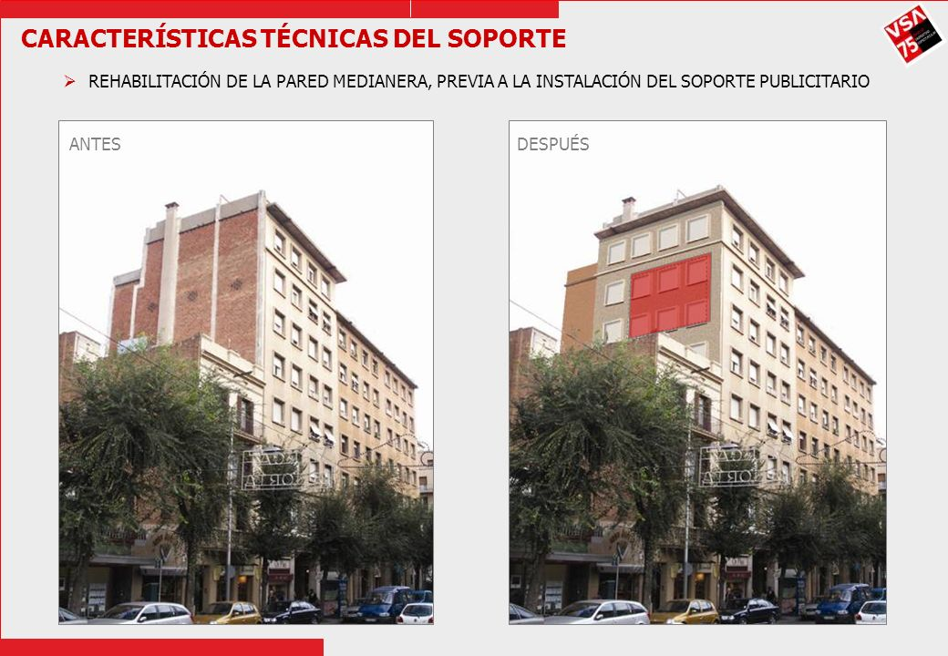 CARACTERÍSTICAS TÉCNICAS DEL SOPORTE