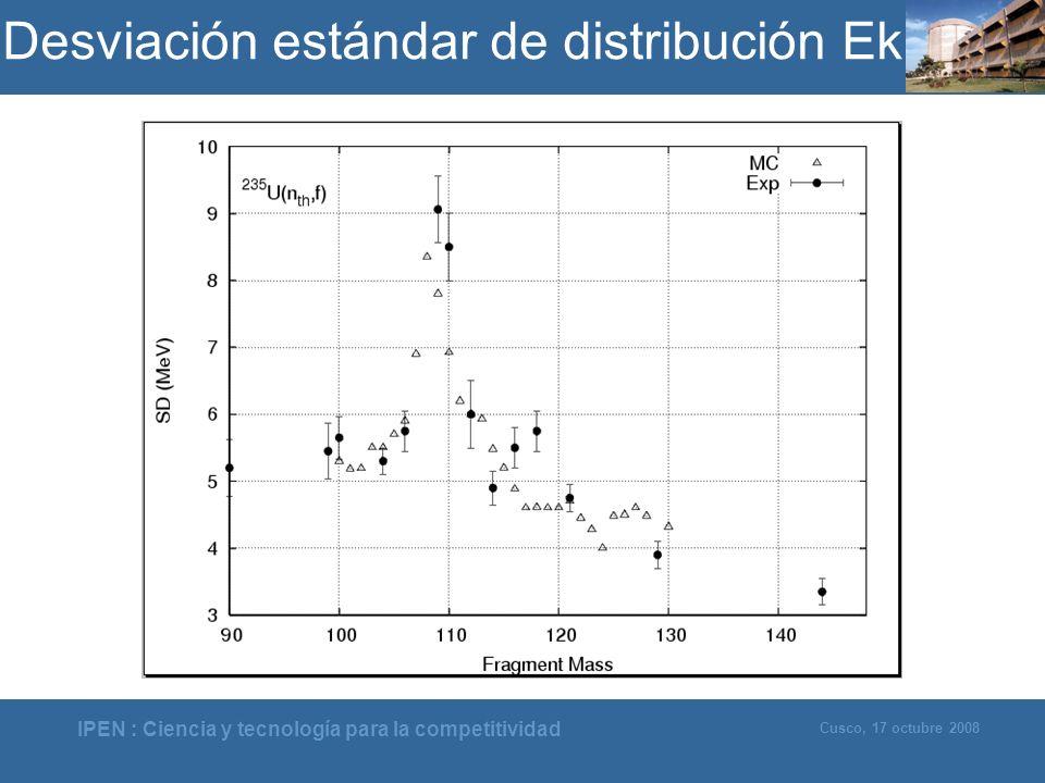 Desviación estándar de distribución Ek