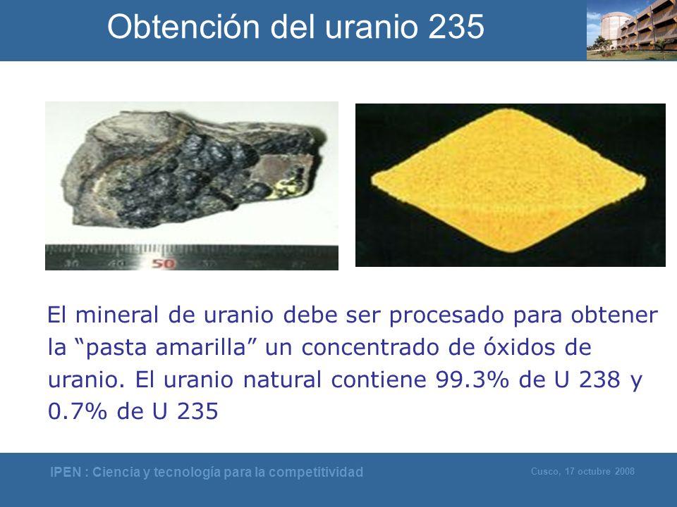 Obtención del uranio 235