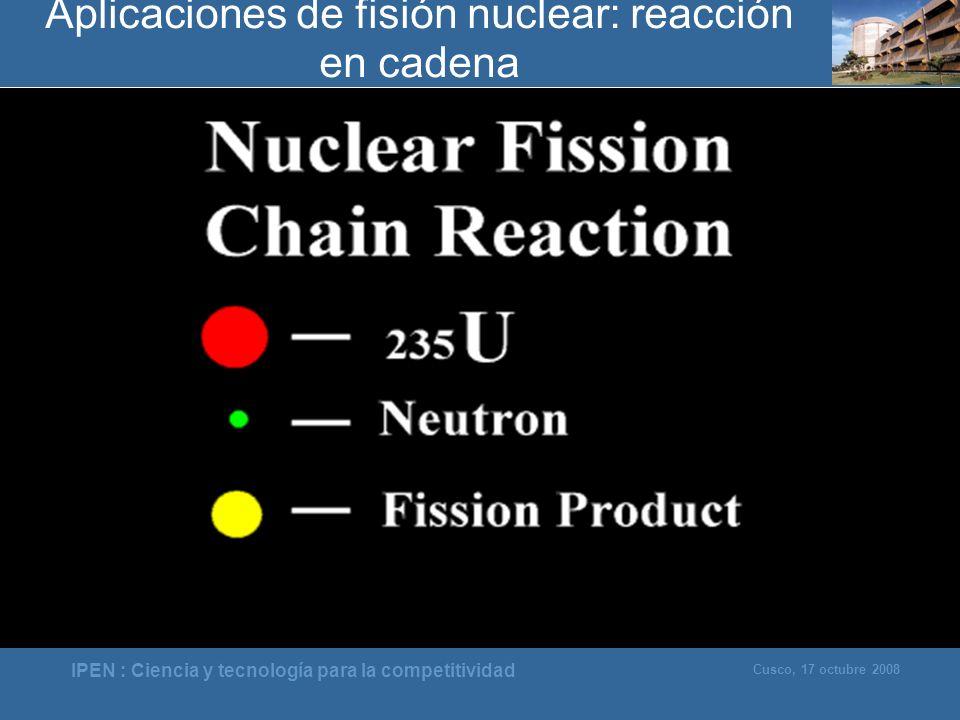 Aplicaciones de fisión nuclear: reacción en cadena
