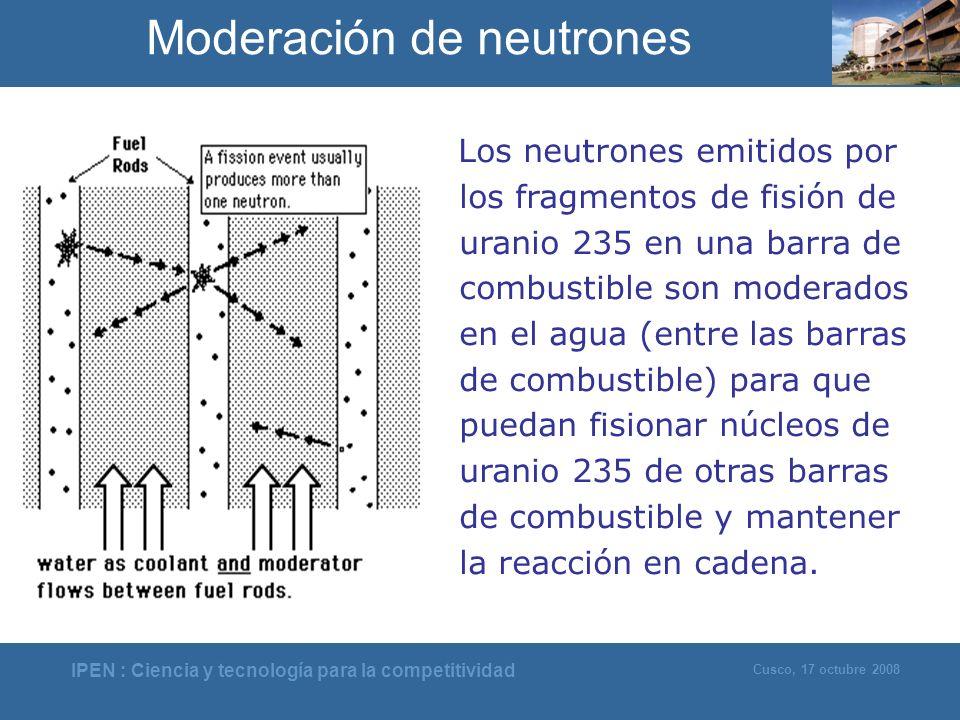 Moderación de neutrones